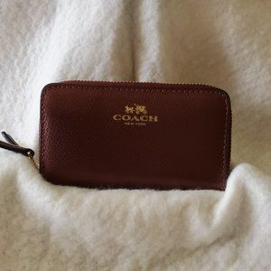 Coach Double Zip Mini Wallet/Coin Purse F63921